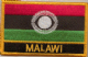 Malawi 2010-2010 Embroidered Flag Patch, style 09.
